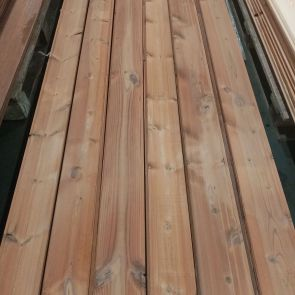 ThermoWood Tongue & Groove V-Joint Cladding – 20 x 117mm - 55.40 linear metres - Grade 2 - PK1311