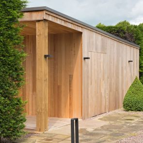 Western Red Cedar 'Rustic' V-Joint Cladding