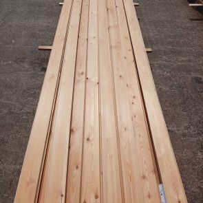 Siberian Larch Tiga Rainscreen Cladding – 20 x 95mm - 100.00 Lineal Metres - Grade 2 - PK1274