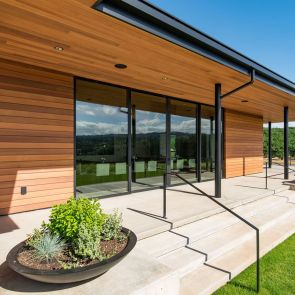 Western Red Cedar Clear, Vertical Grain Tongue & Groove V-Joint Cladding