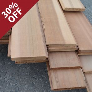 Western Red Cedar Tongue & Groove Cladding Pack - 18 x 137 mm - 8.04 sq. m. - 62.31 Linear Metres - PK0998