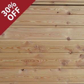 Siberian Larch Channel Cladding - 21 x 121mm - 173.4 lineal metres - 19.59 sq. m. - PK0955
