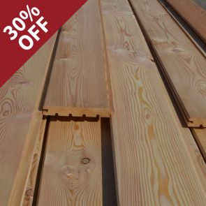 Siberian Larch V-Joint Weatherboard Cladding – 21 x 146mm - 190.8 Lineal Metres - 25.17 sq. m. - PK0958