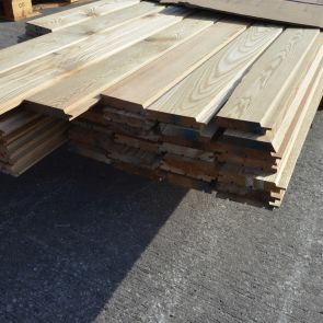 Siberian Larch Channel Cladding – 21 x 121mm - 159.8 Lineal Metres - 18.06 sqm - PK1056
