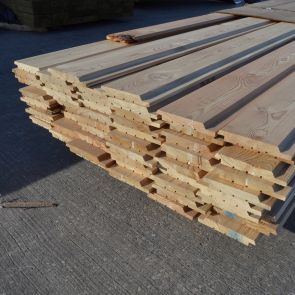 Siberian Larch Channel Weatherboard Cladding – 21 x 146mm - 188.10 Lineal Metres - 24.82 sq. m. - PK1064