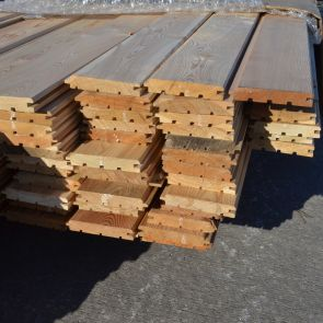 Siberian Larch V-Joint Tongue & Groove Cladding – 21 x 121mm  - 282.8 Lineal Metres - 31.95 sq. m. - PK1065