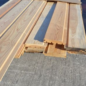 Siberian Larch Channel Cladding – 21 x 96mm - 39.7 Lineal Metres - 3.49 sq. m. - PK1071