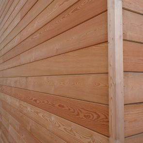 SILVALarch™ Siberian Larch V-Joint Weatherboard Cladding