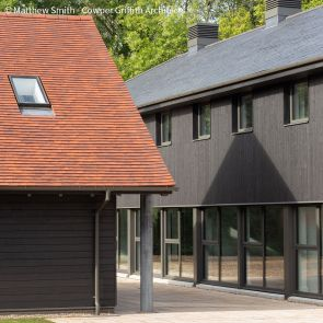 ThermoWood Rainscreen & Trim Boards Factory Coated in Sansin SDF Onyx