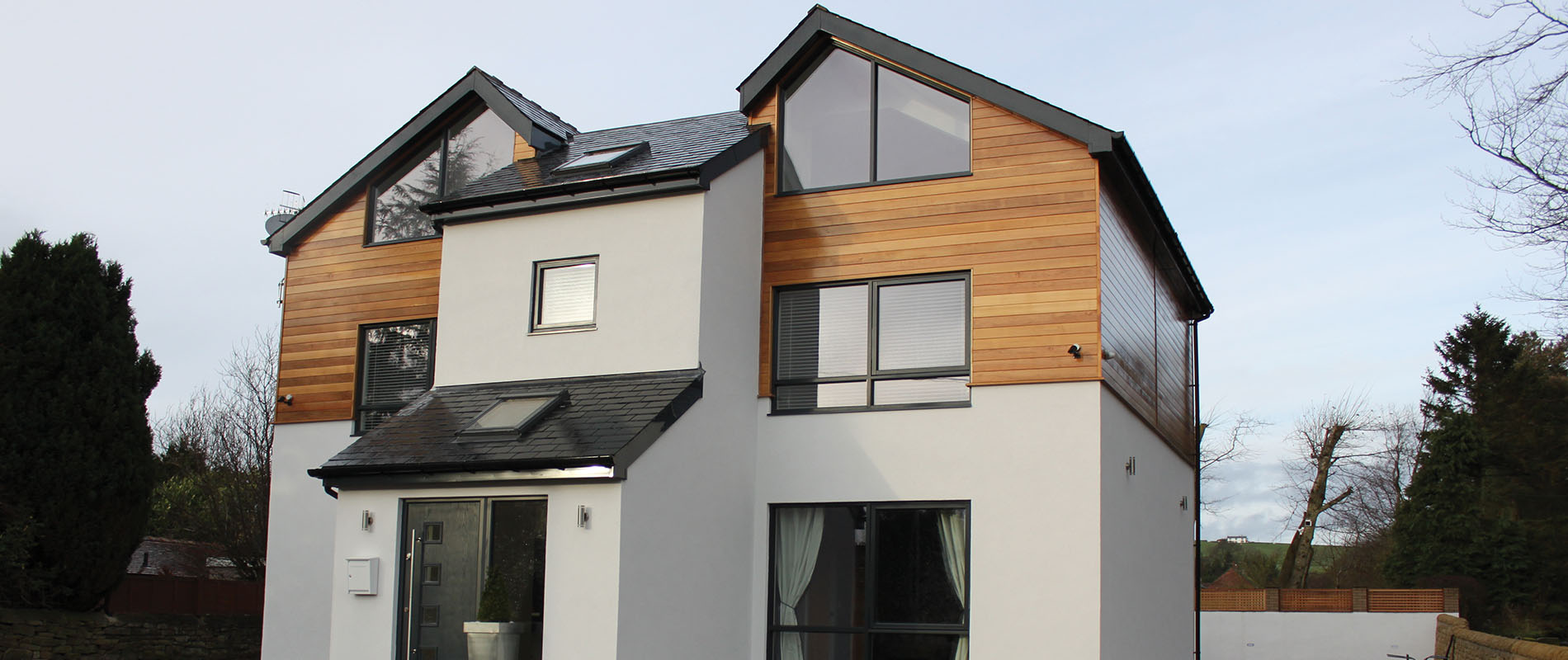 Cedar Specified For Hexham Self Build Property