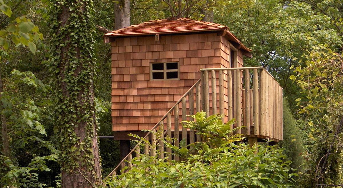 Teesside Western Red Cedar Shingle Treehouse