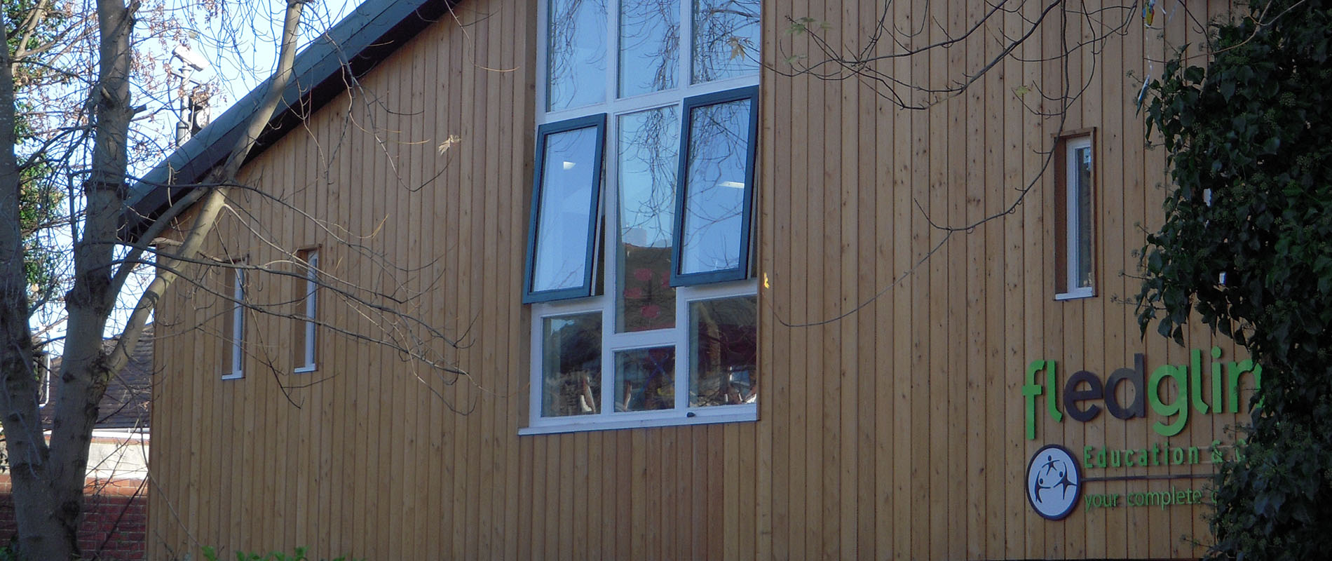 Siberian Larch Cladding Specified for Nursery