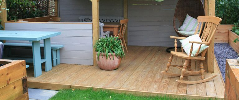 Southern Yellow Pine Decking Fits Right In With Gazebo