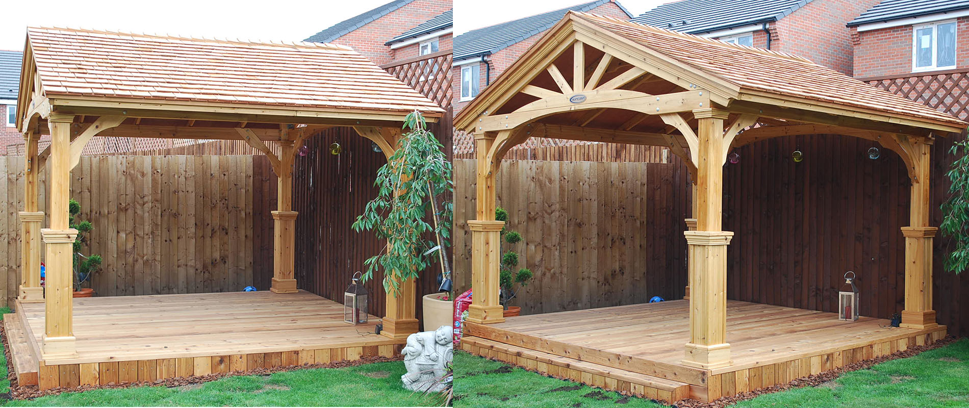 Cedar Pavilion Receives Deck And Roofing To Suit Silva Timber