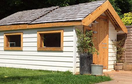 DIY Shed Observatory Using Western Red Cedar Shingles, Decking & Trim