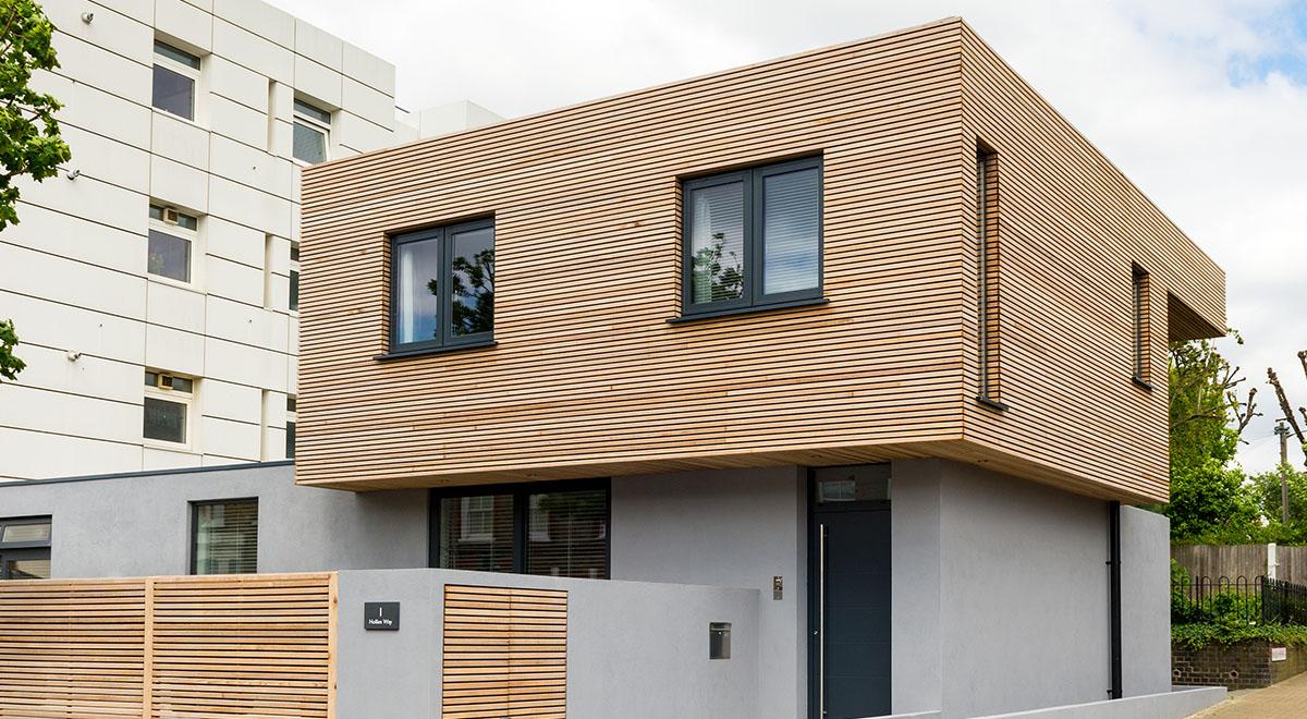Western Red Cedar Envelops Urban Property in Southwest London
