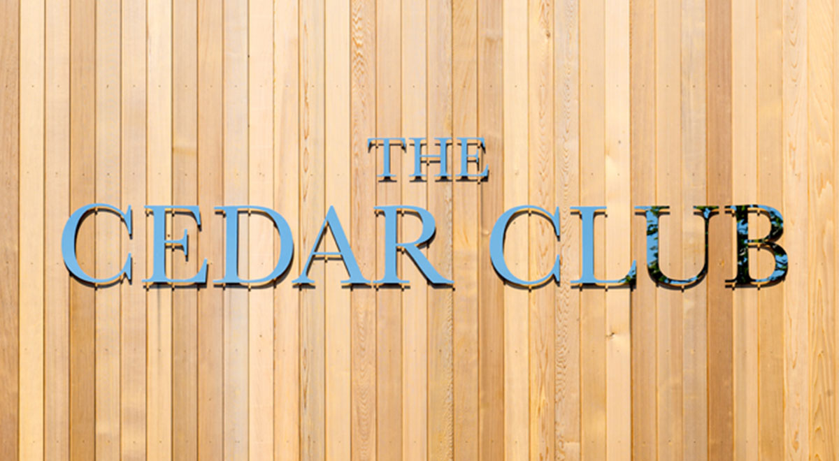 The Cedar Club Uses Western Red Cedar Externally and Internally