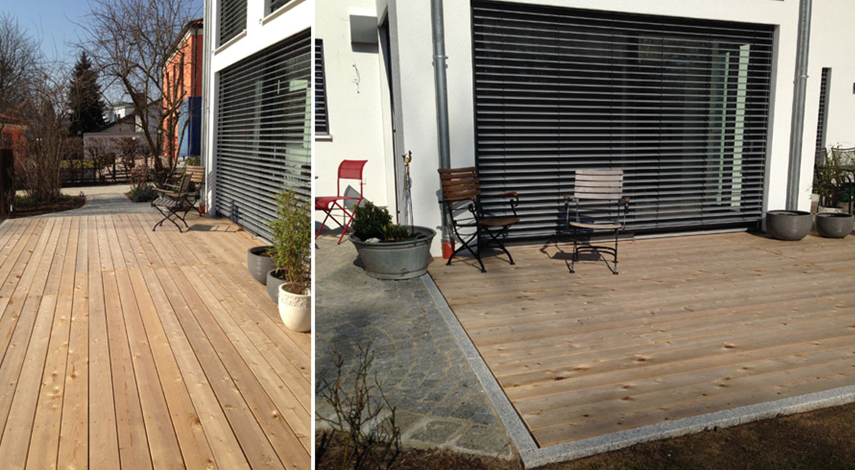 Western Red Cedar Decking Bought for House in Germany