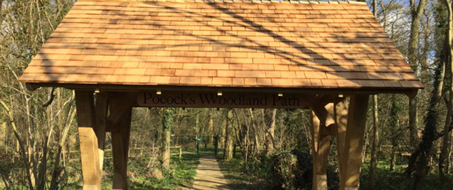 Cedar Shingles Are a Natural Choice for Woodland Walkway