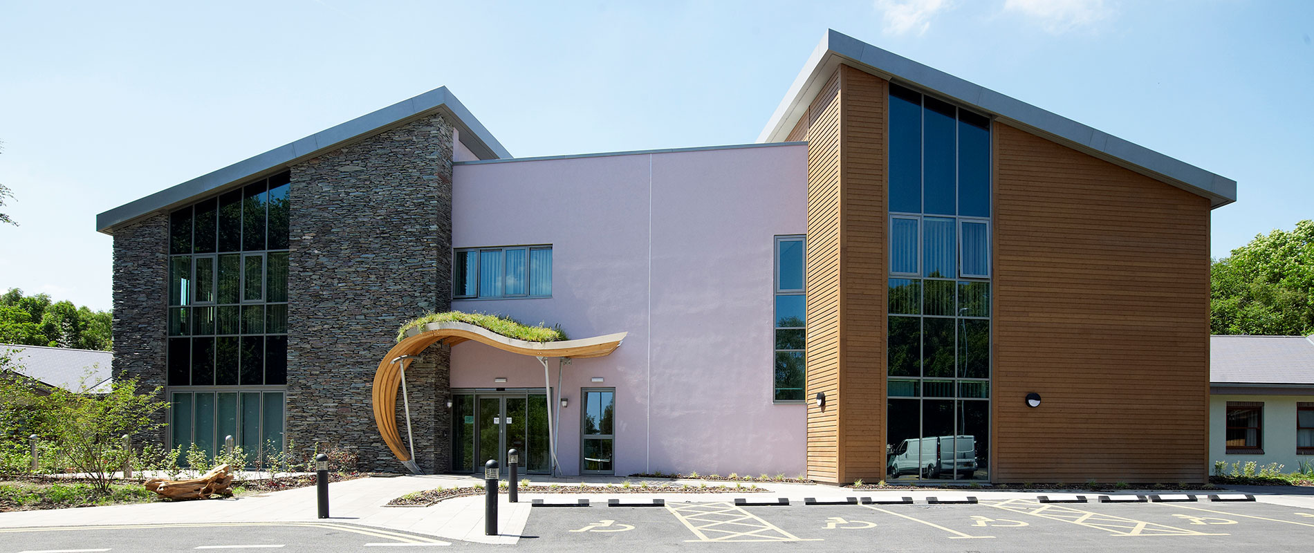 Thermally Modified Wood Cladding Provides a Wonderful Finish to Rotherham Hospital