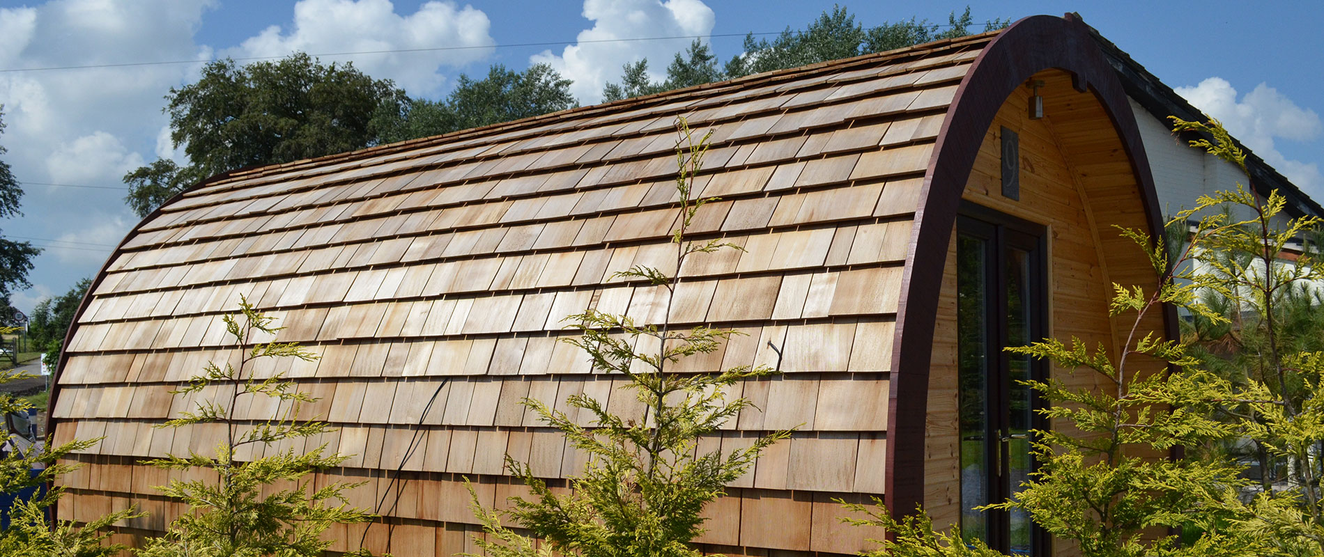 Western Red Cedar Shingles Are the Natural Choice for Glamping Pods