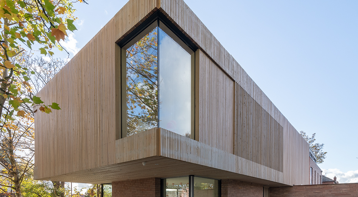 Cheshire Self Build House with Siberian Larch Battens