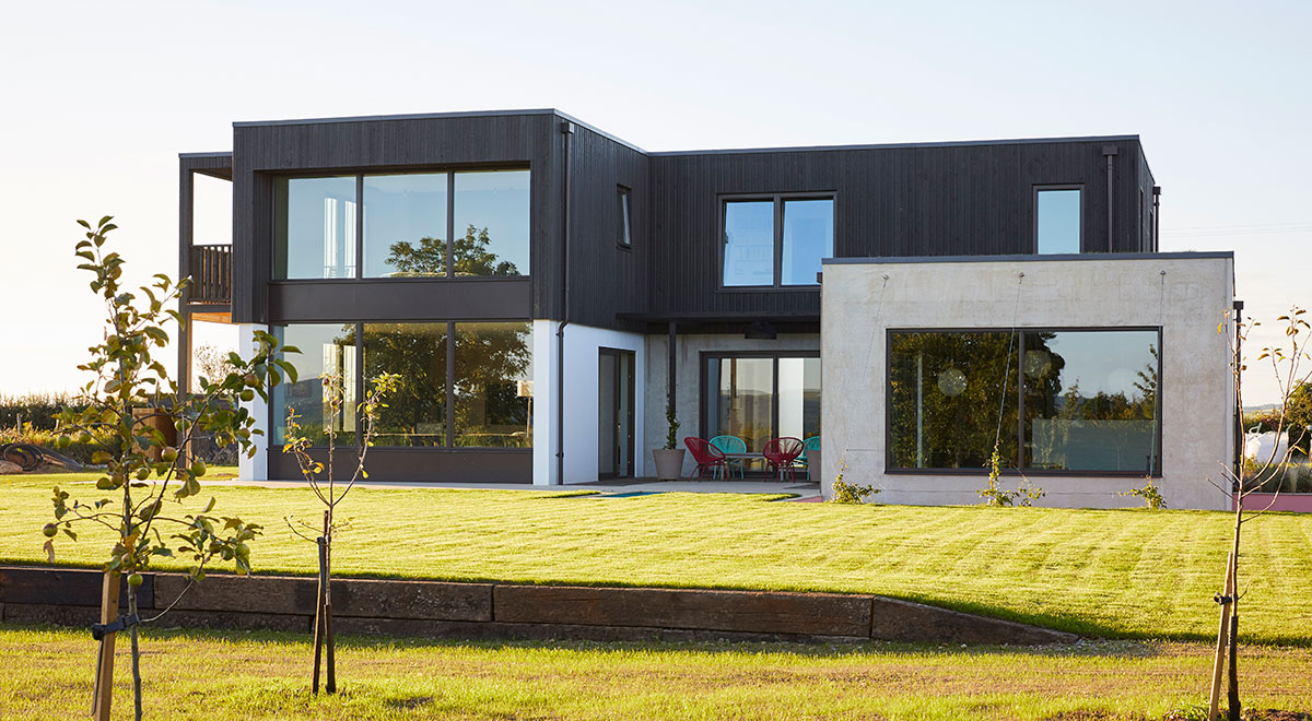Siberian Larch Cladding Forms Integral Part of Countryside Passive House Build